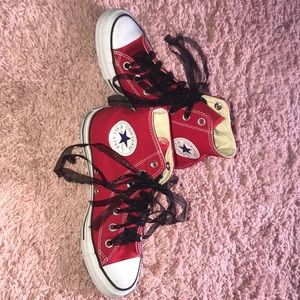 Almost Brand New Red Converse!